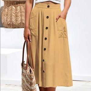 NWT Primark (UK)  Mustard Midi Skirt Sz 12